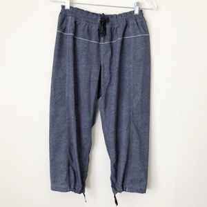 Lululemon Cropped Joggers Gray Relaxed Fit Pants 8